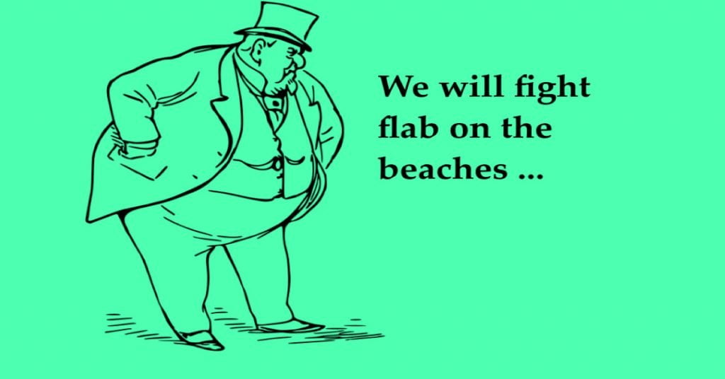 daily distress satirical articles fatty fights the flab