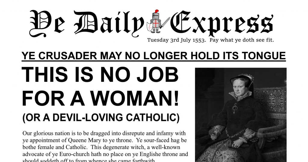 Daily Express Queen Mary Satire