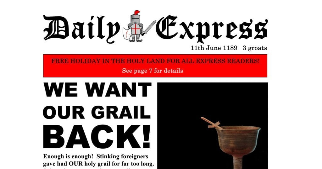 The Daily Express launches the Third Crusade