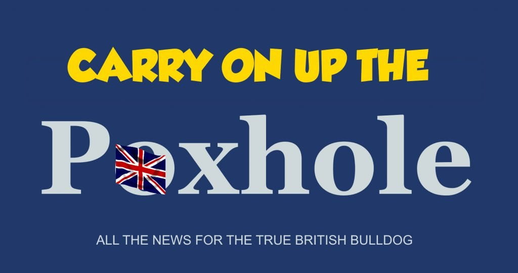 Carry on up the Poxhole - more ripping satire from the Daily Distress