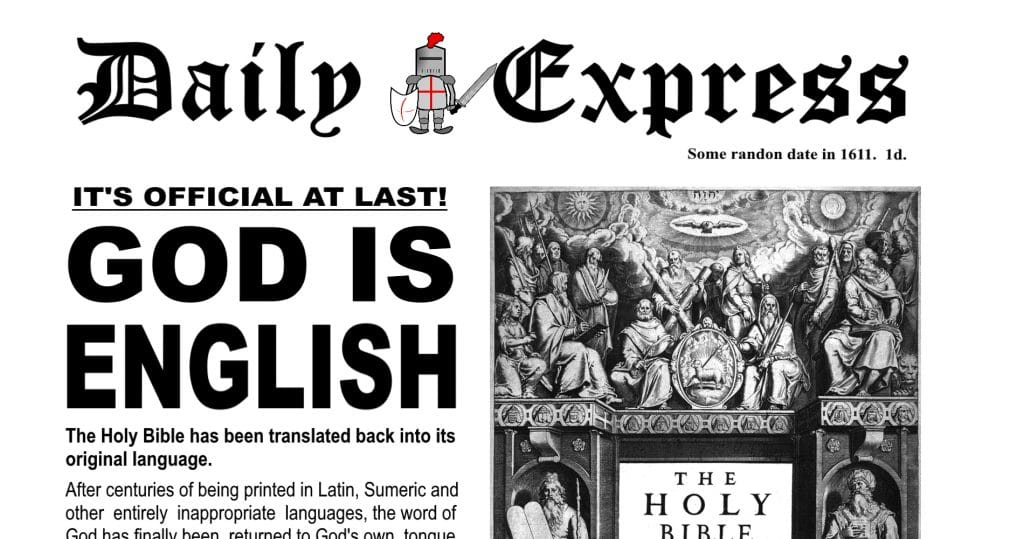 daily distress today and yesterday - God is English