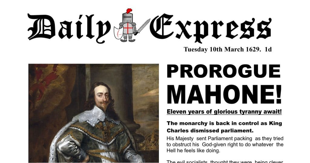 The Daily Express Today and Yesterday - Prorogation