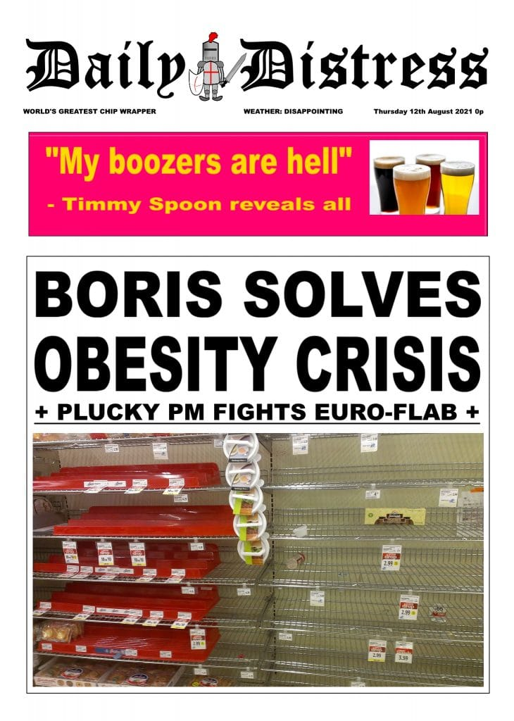 Daily Distress Covers - Obesity and Brexit Shortages