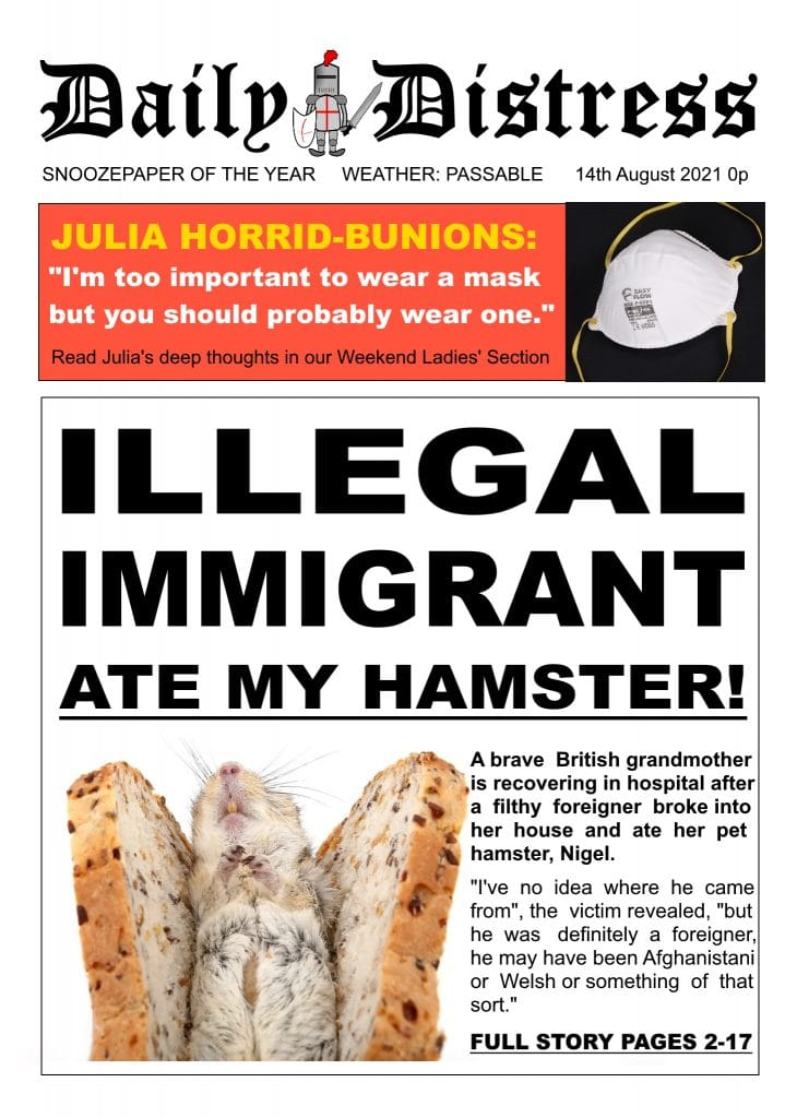 Daily Distress Covers - Illegal Immigrant Ate my Hamster
