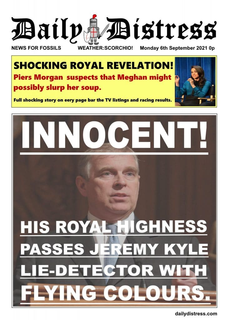 Daily Distress Covers - Prince Andrew is Innocent (honest!)