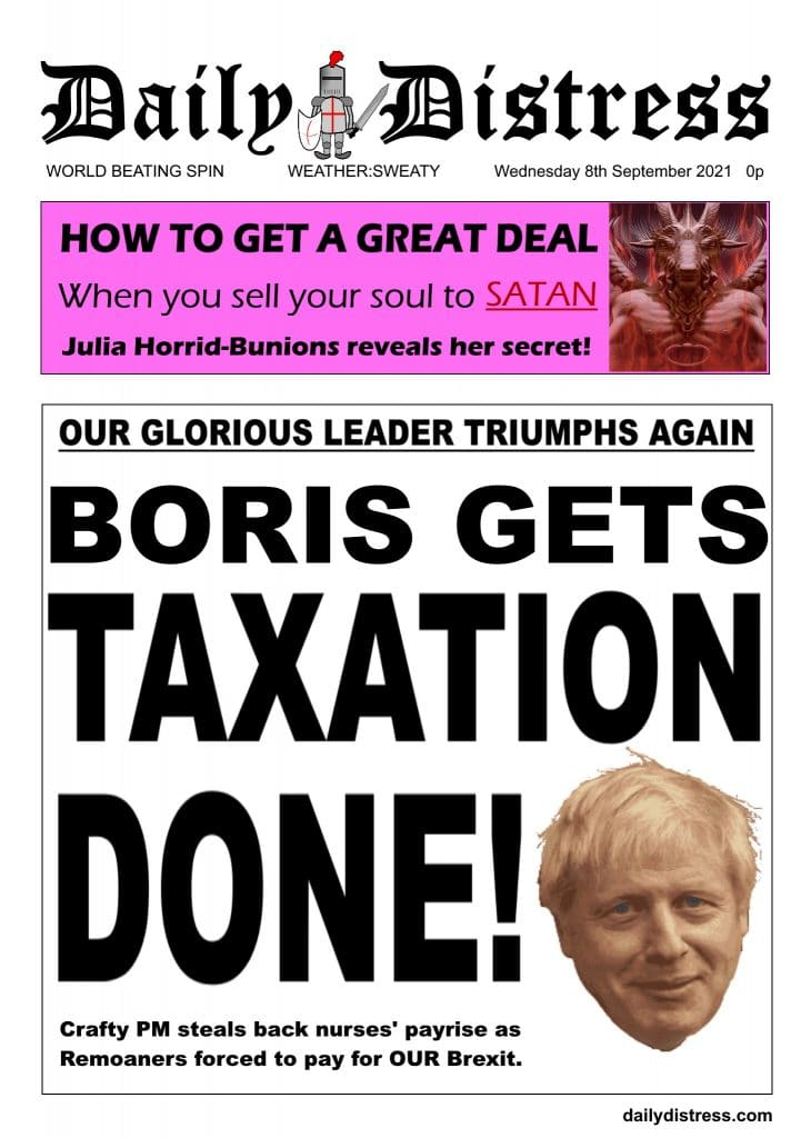 Daily Distress Covers - Boris Gets Taxation Done
